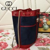 GUCCI-553961-01   古馳新款原版皮水桶包
