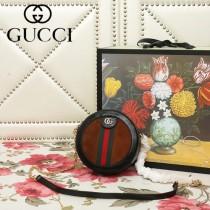 GUCCI-550618-01   古馳新款原版皮復古圓餅包