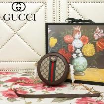 GUCCI-550618-05   古馳新款原版皮復古圓餅包