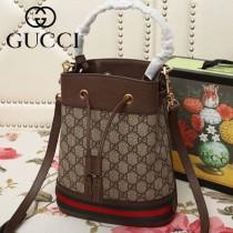 GUCCI-550621-01   古馳新款原版皮水桶包