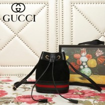 GUCCI-550620-03   古馳新款原版皮水桶包