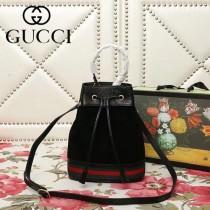 GUCCI-550621-02   古馳新款原版皮水桶包