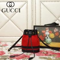 GUCCI-550620-02   古馳新款原版皮水桶包