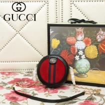 GUCCI-550618-03   古馳新款原版皮復古圓餅包
