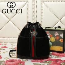 GUCCI-553961-02   古馳新款原版皮水桶包