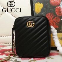 GUCCI-550155-01   古馳新款原版皮斜挎雙層小包