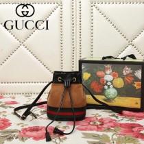 GUCCI-550620-04   古馳新款原版皮水桶包