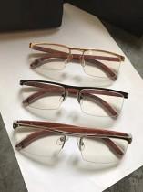 卡地家經典個性花梨木光學鏡近視眼鏡框眼鏡架男士女士半框商務正品純鈦2018新款