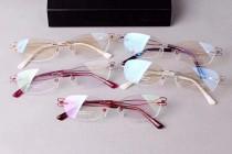 夏蒙女款線純鈦系列無框XL2064簡約斯文眼鏡架光學近視眼鏡架眼鏡框金銀粉紫紅5色