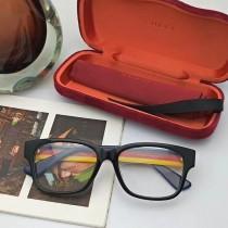 正品G家光學近視眼鏡架眼鏡框男女板GG0343原單最新三色拼接鏡腿色彩方形大框全框