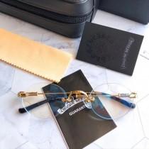 克邏家眼鏡架女復古圓形無框鈦合金眼睛男原單品質十字架配近視高端IP電鍍不褪色