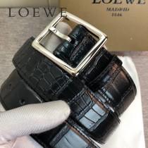 羅意威 原單雙面頭層牛皮黑色鱷魚紋帶身-01