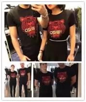 刺绣老虎头短袖T恤 可做情侣可单穿