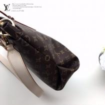M44360原版皮 拉鏈Tote手袋 采用柔軟的Monogram帆布打造