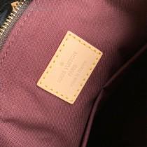 M44543 原版皮 Rivoli BB 手袋以 Monogram 帆布勾勒風琴結構