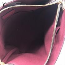 M44350原版皮 酒紅  拉鏈Tote手袋