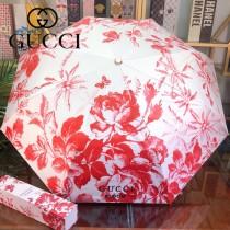 GUCCI雨傘-02 GUCCI 爆款自動傘 專櫃夏季新款 全自動折疊晴雨傘 新塗層技術深色傘布