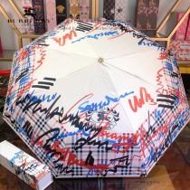 Burberry雨傘-08  BURBERRY 巴寶莉 專櫃夏季新款 全自動折疊晴雨傘