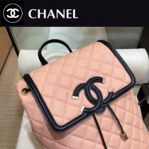CHANEL 原版皮-02 Chanel 春夏新款SS pre collection CClogo雙肩背包