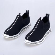 MIU RUN仿水晶裝飾運動鞋