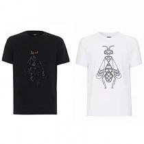 19SS新款FD-怪獸出品官網4700元!時尚小蜜蜂燙珠設計情侶款黑白棉質短袖T