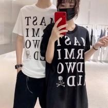 MASTXRMXND WORLD 19SS春夏大字母LOGO短袖T恤限量暗黑情侶款潮流版TEE