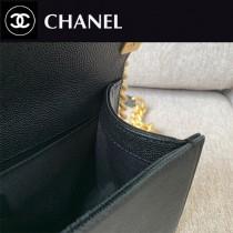 CHANEL-02 原版皮  67086大V格 leboy細球紋原單系列 斜背包