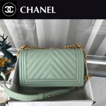 CHANEL-09 原版皮  67086大V格 leboy細球紋原單系列 斜背包