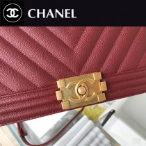 CHANEL-06 原版皮  67086大V格 leboy細球紋原單系列 斜背包