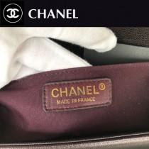 CHANEL-04 原版皮  67086大V格 leboy細球紋原單系列 斜背包