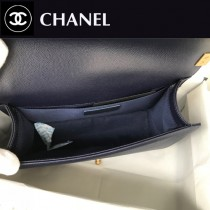 CHANEL-12 原版皮  67086大V格 leboy細球紋原單系列 斜背包