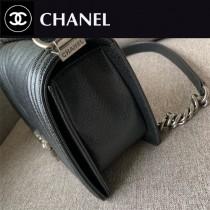 CHANEL-01 原版皮  67086大V格 leboy細球紋原單系列 斜背包