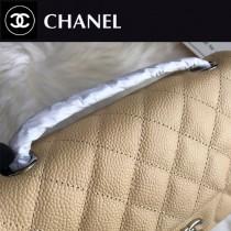 CHANEL 原版皮 經典Cf 1116-08 魚子醬小牛皮