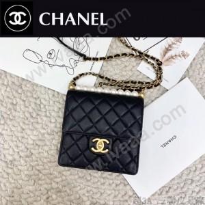 CHANEL 原版皮 珍珠系列小方包