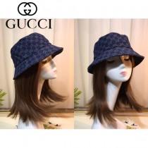 古琦Gucci雙G做舊牛仔限量漁夫帽