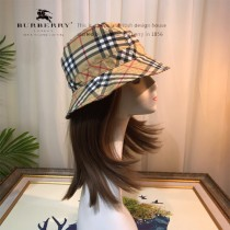 博柏利Burberry經典格子最新春夏新款漁夫帽