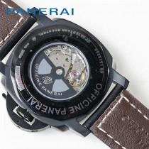 沛納海  PANERAI   Pam新款男士腕表 ,升級v2版  全316烏鋼