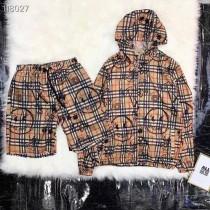 B家八寶力19 春夏 格子紋塗鴉LOGO風衣防嗮服套裝休閑外套短褲運動套裝