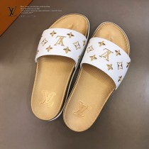 LV 情侶款 經典情侶拖鞋 高端品質,頭層牛皮材質,精美電繡工藝