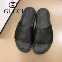 GUCCI男士拖鞋經典拖鞋,進口原版牛皮鞋面