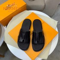 愛馬仕 新款  涼鞋 獨家限定系列 休閑時裝拖鞋進口小牛皮