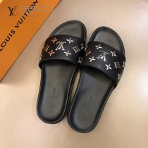 LV 男士拖鞋   奢品男士拖鞋,11高端品質,頭層牛皮材質