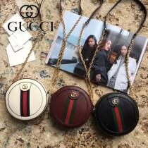 550618-2 原版皮新款Gucci Ophidia爆款小圓餅
