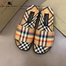 巴寶莉 情侶款彩虹拖鞋 進口全棉原版布料 裏外都是雙層布