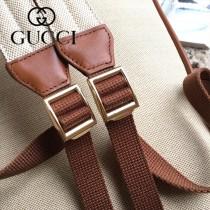 575063 新款原版皮 復古帆布背包