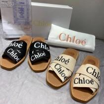 Chl0e字母交叉編織帶羅馬拖鞋