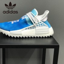 菲董聯名Pharrell Williams x adidas Originals NMD Hu Trail NERD人類系列休閑慢跑鞋