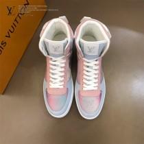 LV 新款 炫彩高幫運動鞋