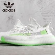 原單椰子鞋  白配綠 巴斯夫真爆Adidas Yeezy 350 Boost V2 定制版