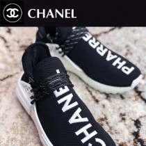 CHANEL 菲董聯名Pharrell Williams x adidas Originals NMD Hu Trail NERD人類系列休閑慢跑鞋